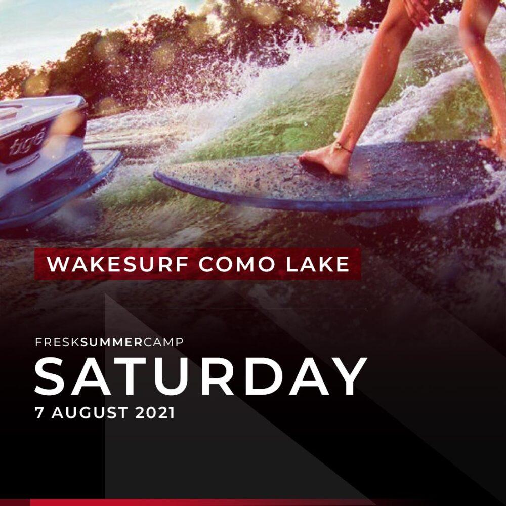 summer camp wakesurf como lake